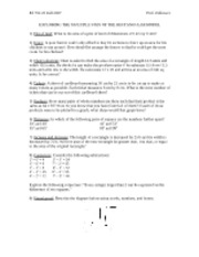 MATH PROBLEMS FOR USING THE RECTANGULAR MODEL