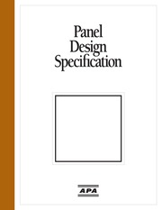 APA Panel Design Specification