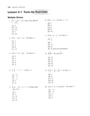 4.1 Solving Basic Equations