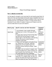 Assignment - Module 3: Fitness Circuit Design assignment