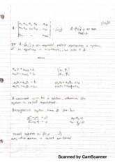 Augmented Matrices Notes