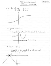 MATH 1111 Spring 2013 Midterm Solutions