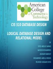 CIS-510 PPT-Nayeem Mohammed