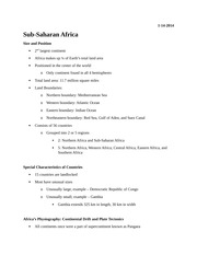GY Lecture Sub-Saharan Africa