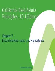 California Real Estate Principles, 10.1e - PowerPoint - Ch  07.ppt