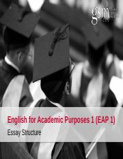1. Basic Essay Structure