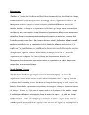 Management: Leading Change by John P. Kotter