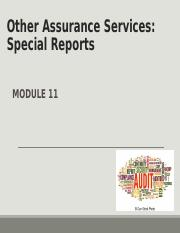 Module 11 Other Assurance Services  Special Reports(1).ppt