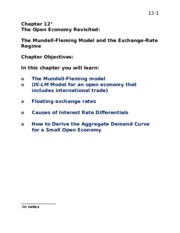 2HH3 Chapter 12 Open Economy
