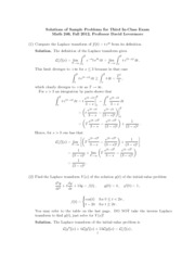 Sample Exam 3sol