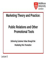 MKT1120 Lecture 5 PR and Prom Tools.ppt