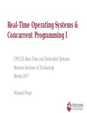 Lecture 6 Concurrent Programming - RTOS I