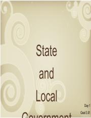 Goal 3 Day 1 - State and Local Government