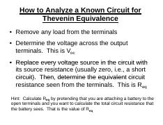 How to Analyze a Known Circuit for Thevenin Equivalence.pdf