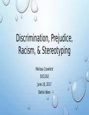 Discrimination, Prejudice, Racism, & Stereotyping