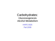 12 Carbohdrates - GNG and Alcohol