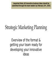 Strategic Marketing Plan (1)