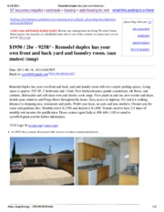Remodel duplex has your own front and back yard and laundry room