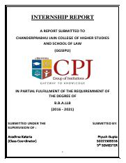 college internship diary pdf - INTERNSHIP REPORT A REPORT SUBMITTED
