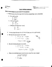 Physics vector assignment