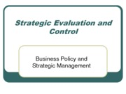 Strategicevaluationandcontrol (Assignment)