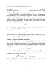 Physics 2.71 Pset 1 Solutions