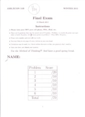 Econ 11b: Final Exam with Answers