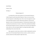 sociology11 theoretical perspectives essay