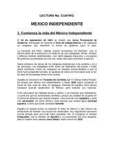 2. LECTURA 2 INICIA EL MEXICO INDEPENDIENTE