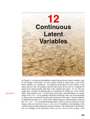 Continuous Latent Variables