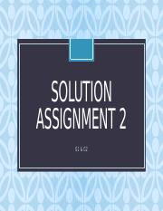 Solution Assignment 2.pptx