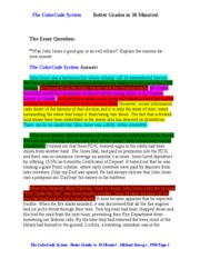 sat essay supplementb sat essay supplement to the color code  3 pages color code writing