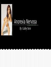 Anorexia Nervosa Final Psychology Project