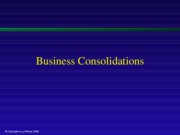 Business Consolidations