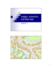 Angles, Azimuths and Bearings