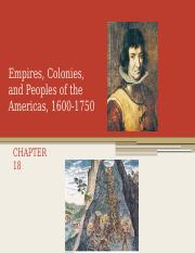 Empires, Colonies, and Peoples of the Americas (chapter 18) no audio