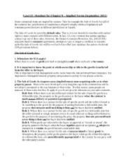Ryerson - Handout on Sale of Goods Act and implied terms (chp. 9)