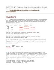 W07.07 4D Guided Practice Discussion Board.docx