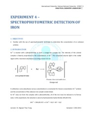 Instruction for Exp. 4_Spectrophotometric detection of iron