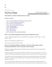 5-The Four Rules - Motley Fool Stock Advisor