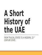 A Short History of UAE_Updated.ppt