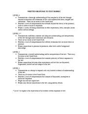rubric_for_response_to_text