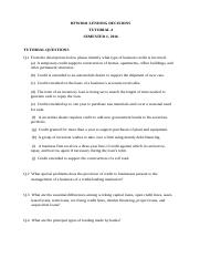BFW3841 Week 4 Tutorial 4 Questions Semester 1, 2016.docx