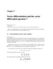 Vector differentiation and the vector