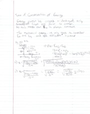 PH Notes Law of Conservation of Energy