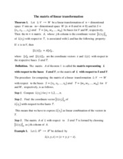 3.4 The matrix of linear transformation
