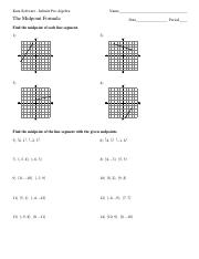 Printables Distance Formula Worksheet distance formula worksheet doc intrepidpath midpoint worksheets