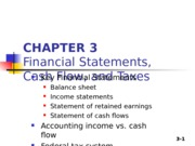 Chapter 03 - Financial Statement, CF & taxes