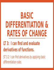 2.2 - Basic Differentiation & Rates of Change.pptx