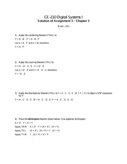 Chapter 3: Combining Theorem Solutions